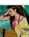 photo of Glorious Green Color Printed Georgette Saree