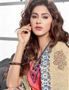 photo of Groovy Peach Color Designer Chanderi Cotton Suit