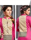 photo of Pink Straight Cut Party Wear Cotton Suit