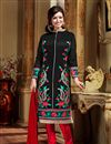 image of Ayesha Takia Black Straight Cut Salwar Kameez-5703