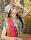 photo of Art Silk Grey Occasion Wear Weaving Work Saree