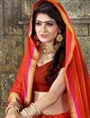 photo of Art Silk Occasion Wear Weaving Work Saree In Red