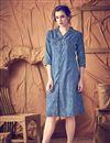 image of Attractive Blue Color Designer Kurti In Cotton Fabric