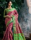 image of Magenta Color Designer Party Wear Art Silk Fancy Weaving Work Saree