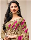 photo of Daily Wear Cream Color Crepe Fancy Print Saree