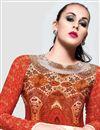photo of Cream Crepe-Georgette Designer Salwar Kameez-7099
