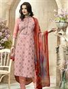 image of Pink Straight Cut Cambric Dress Material
