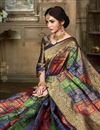 photo of Traditional Function Wear Art Silk Designer Saree In Multi Color With Weaving Work