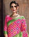 photo of Art Silk Function Wear Traditional Pink Designer Weaving Work Saree