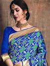 photo of Function Wear Designer Art Silk Saree In Blue With Weaving Work