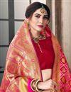 photo of Pink Function Wear Traditional Art Silk Designer Weaving Work Saree