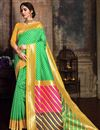 image of Function Wear Fancy Green Designer Saree In Art Silk With Weaving Work
