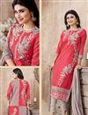 photo of Mouni Roy Dark Pink Color Cambric Designer Suit