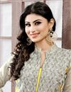 picture of Mouni Roy Grey Color Cambric Suit