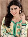 photo of Mouni Roy Cream Color Cambric Designer Suit