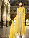 image of Attractive Yellow-Beige Color Designer Georgette-Net Anarkali Salwar Suit
