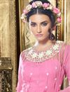 photo of Attractive Pink Color Designer Georgette Anarkali Salwar Suit