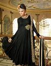 image of Black Color Magnetic Georgette Anarkali Suit