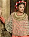 picture of Orange Color Enticing Georgette-Net Anarkali Salwar Kameez