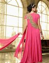 picture of Charming Pink Color Georgette Anarkali Suit