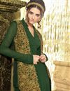 photo of Attractive Green Color Designer Georgette Anarkali Salwar Suit