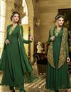 image of Classic Green Color Georgette Party Wear Anarkali Suit