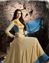 photo of Party Wear Beautiful Cream Color Georgette Anarkali Suit With Embroidery Work