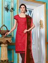 image of Classic Red Color Cotton Salwar Kameez