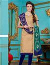 image of Enticing Beige Color Cotton Designer Suit