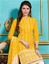 photo of Striking Yellow Designer Salwar Kameez
