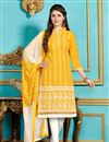 image of Striking Yellow Designer Salwar Kameez