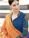 photo of Georgette Straight Cut Churidar Suit With Heavy Dupatta