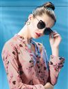 picture of Soothing Pink Color Polyester Fabric Designer Party Wear Digital Print Girls Western Top