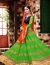 image of Beguiling Green Color Designer Embroidered Lehenga Choli In Georgette Fabric