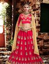 image of 3 Piece Pink Color Designer Embroidered Georgette Lehenga Choli