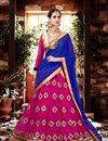 image of Beautifully Embroidered Pink Color Designer Lehenga In Georgette Fabric