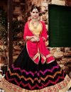 image of Stunning Black Color Designer 3 Piece Lehenga Choli With Embroidery Work