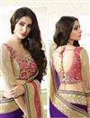 photo of Purple Designer Saree with Dhupion Blouse