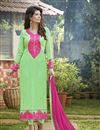 image of Attractive Green Designer Salwar Kameez