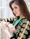 photo of Georgette Fabric Designer Party Wear Salwar Suit In Black Color