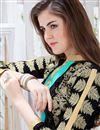 photo of Georgette Fabric Designer Party Wear Salwar Suit In Black Color