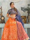 photo of Festive Wear Beautiful Orange Color Lehenga Choli In Silk And Jacquard Fabric