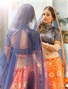 picture of Festive Wear Beautiful Orange Color Lehenga Choli In Silk And Jacquard Fabric