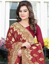 photo of Banglori Silk Jacquard Party Wear Designer Saree In Red Color