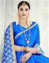photo of Blue Occasional Wear Banarasi Silk Saree
