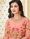 photo of Ayesha Takia Georgette Pink Designer Anarkali Dress