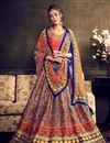 image of Multi Color Bangalori Silk Printed Lehenga Choli for Festival