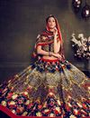photo of Blue Color Festive Wear Printed Lehenga Choli in Bangalori Silk Fabric