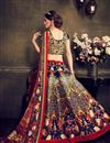 picture of Festive Wear Bangalori Silk Printed Lehenga Choli in Blue Color