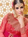 picture of Marvelously Embroidered Party Wear Pink Color Designer Salwar Kameez In Banglori Silk And Georgette Fabric